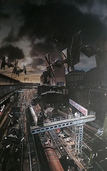 Chasseurs T au dessus de la gare Saint Lazare