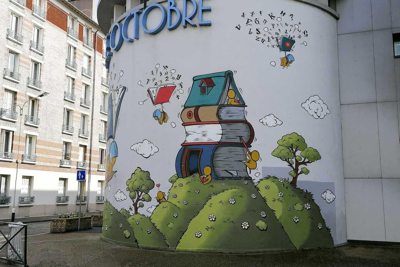 Une maison de livres habitée par les Gouzous