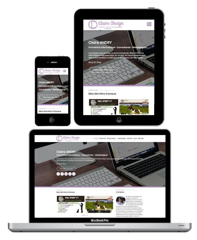 Claire-Design, visible sur tous les supports