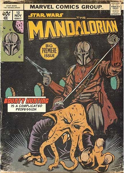 Couverture style Comics
