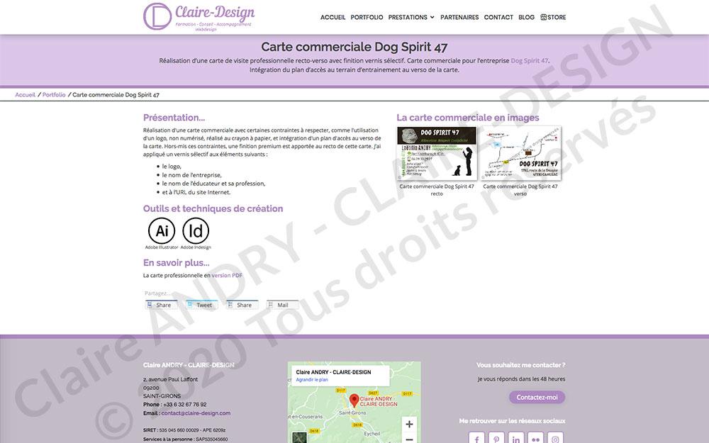 Page projet en détail