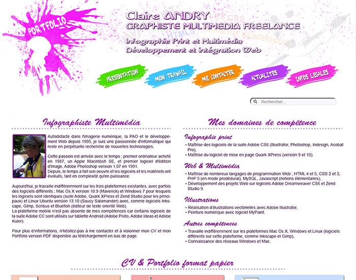 Quatrième version du site Claire-Design, RWD - 2014