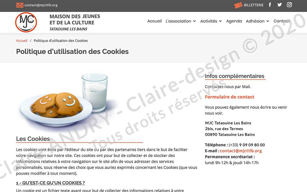 Politique d'utilisation des cookies