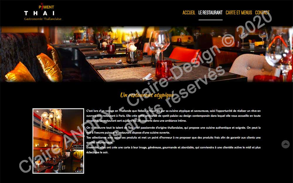 Présentation du restaurant