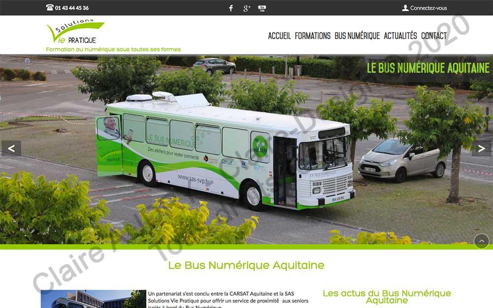 Page Bus numérique Aquitaine