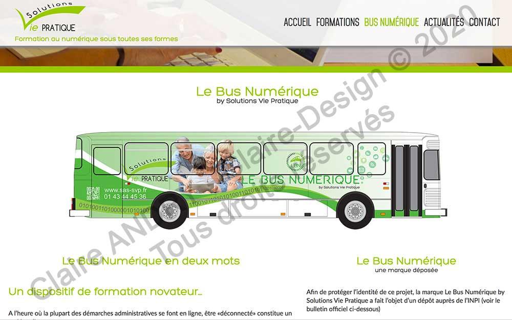 Page du Bus numérique