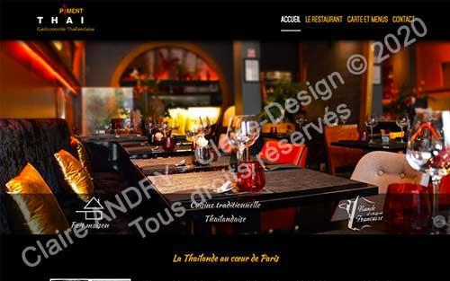 Site WordPress Piment Thaï 21
