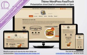 Thème WordPress FoodTruck